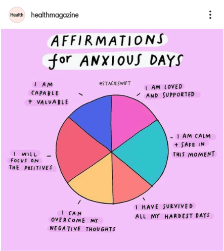 Health Magazine Affirmations for Anxious Days